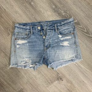American Eagle jean shorts- button up.